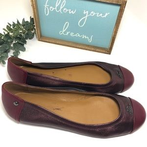 Coach Chelsea Berry Round-toe Leather Ballet Flats